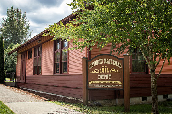 Historic Depot in downtown Duvall